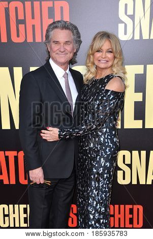 Goldie Hawn and Kurt Russell at the Los Angeles premiere of 'Snatched' held at the Regency Village Theatre in Westwood, USA on May 10, 2017.