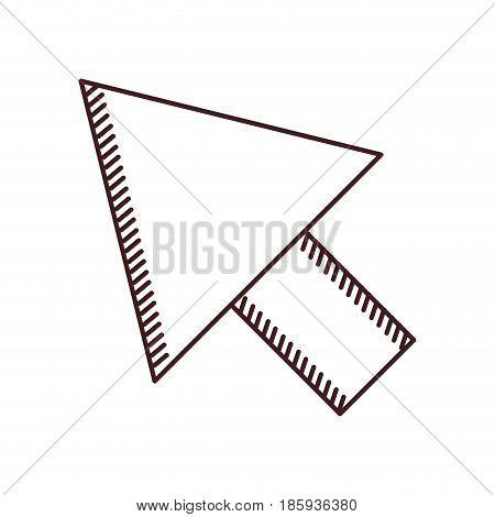 monochrome silhouette of arrowhead icon vector illustration