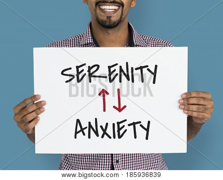 Emotional Antonyms Serenity Anxiety Illustration