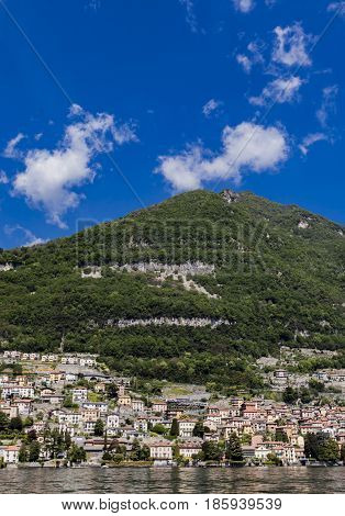 Carate Urio Seen From Boat.lake Of Como ,lario, Lombardy, Italy