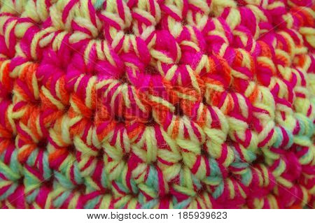 The handmade wool fabrics in variegated colors