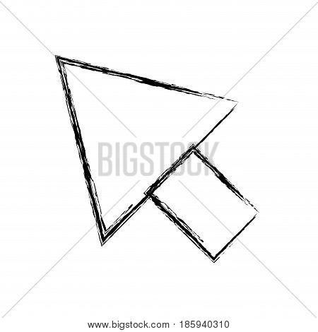 monochrome blurred silhouette of arrowhead icon vector illustration