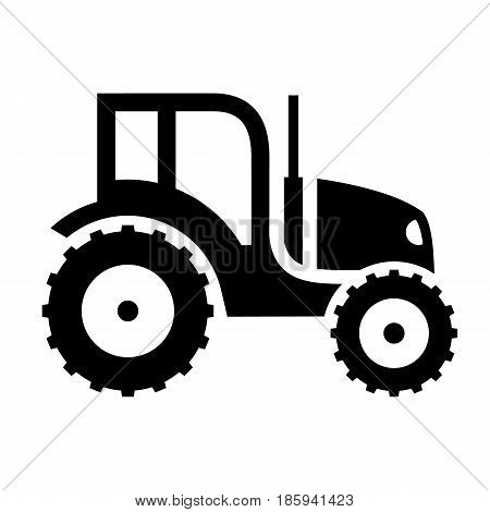 tractor, icon isolated on white background flat style.