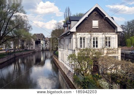 A house on the Ill river - Strasbourg - Alsace - France