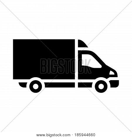 truck, icon isolated on white background flat style.