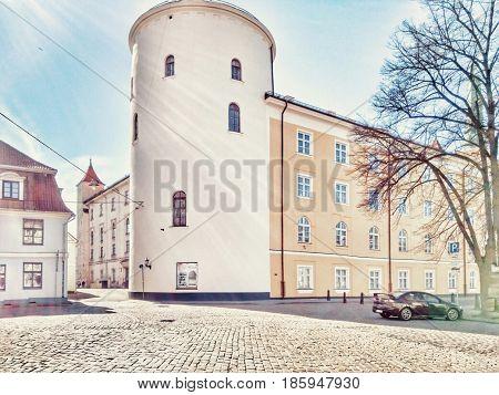 Latvia. Riga. Riga modern architecture. Round house