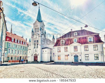 Latvia. Riga. Riga modern architecture. Old town