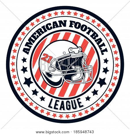 Vector logo american football league for design, print and internet on white background