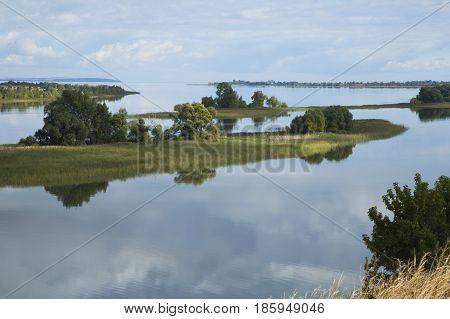 Beautiful view of Volga river coast, Tatarstan, Russia