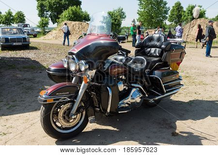 PAAREN IM GLIEN GERMANY - MAY 19: Motorcycle Harley-Davidson Electra Glide Ultra Classic