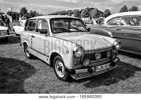 PAAREN IM GLIEN GERMANY - MAY 19: Car Trabant 601 (black and white)