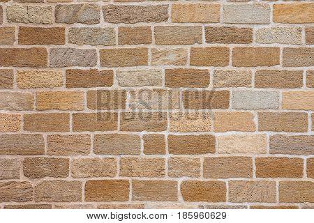 New neat masonry made of good shell blocks