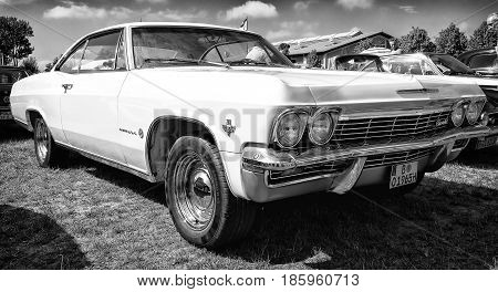 Paaren Im Glien, Germany - May 19: Car Chevrolet Impala (fourth Generation), Black And White,