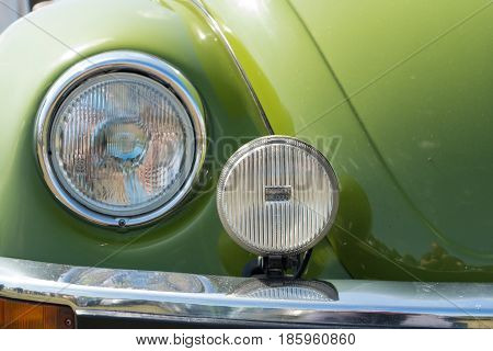 Paaren Im Glien, Germany - May 19: Headlamp The Car Volkswagen Beetle,