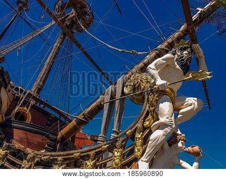 Galleon Neptun In Genoa Port
