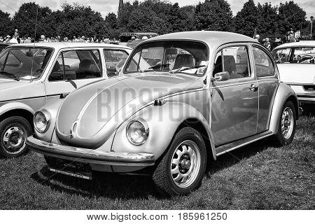 Paaren Im Glien, Germany - May 19: Car Volkswagen Beetle (black And White),