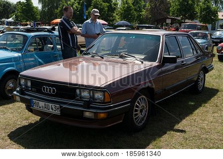 Paaren Im Glien, Germany - May 19: Mid-size Luxury Car Audi 200 5T,