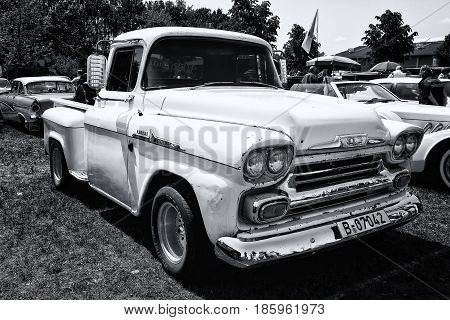 PAAREN IM GLIEN GERMANY - MAY 19: Classic pickup Chevrolet Apache 31 (black and white)