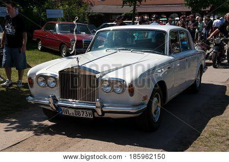 PAAREN IM GLIEN GERMANY - MAY 19: British luxury car Rolls-Royce Silver Shadow