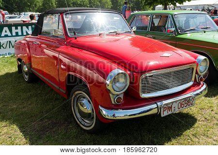 Paaren Im Glien, Germany - May 19: Car Wartburg 312/300Ht Convertible (1965),