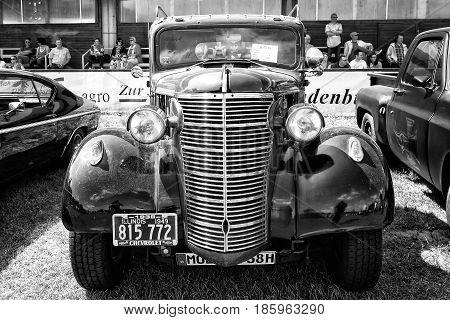 Paaren Im Glien, Germany - May 19: Car Chevrolet Ak Pickup Truck (1938), Black And White,