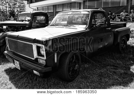 Paaren Im Glien, Germany - May 19: Car Chevrolet Ck Pickup Truck (1974), Black And White,
