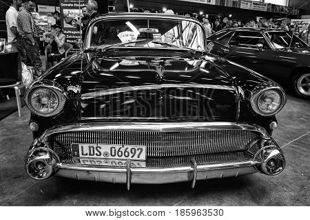 Paaren Im Glien, Germany - May 19: Personal Luxury Car Buick Special Riviera Coupe, (black And White