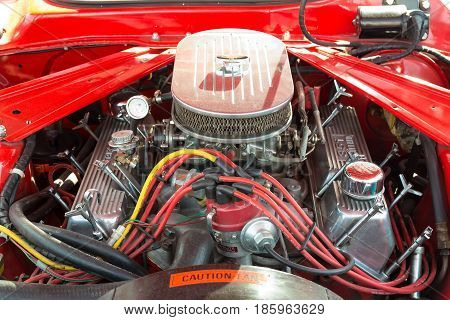 Paaren Im Glien, Germany - May 19: Engine Boss 351, Pony Car Ford Mustang Coupe (second Generation),