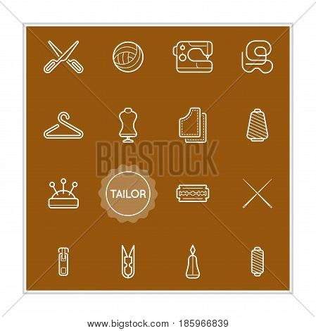 Set of Tailor Vector Illustration Elements can be used as Logo or Icon in premium quality