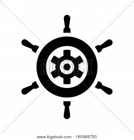 helm icon isolated on white background flat style.
