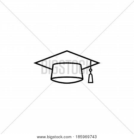 Graduation cap line icon, education and high school element, academy hat vector graphics, a linear pattern on a white background, eps 10.