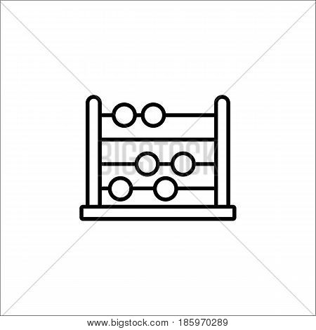 School abacus line icon, education and school element, math vector graphics, a linear pattern on a white background, eps 10.