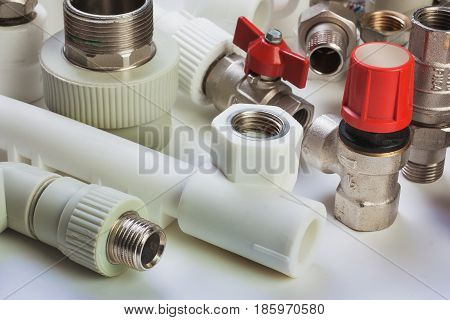 the Plumbing fixtures and the piping parts