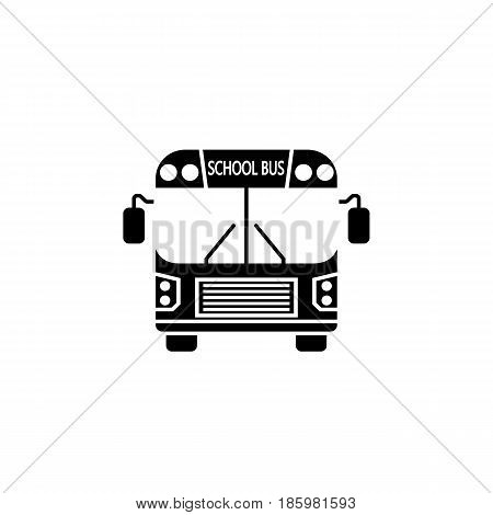 School bus solid icon, student transport, high school service vector graphics, a filled pattern on a white background, eps 10.