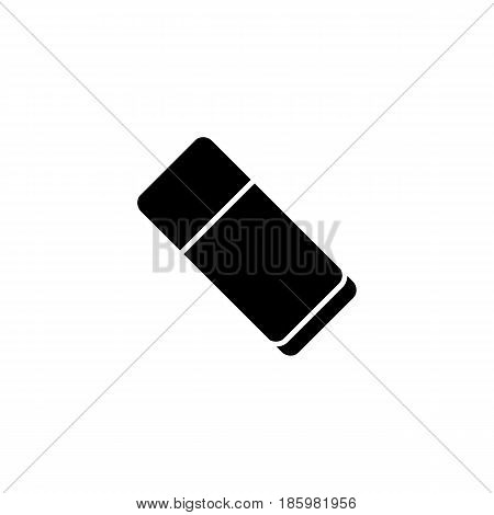 Eraser solid icon, school and education element, rubber vector graphics, a filled pattern on a white background, eps 10.