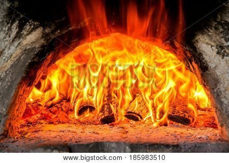 Fire In A Furnace