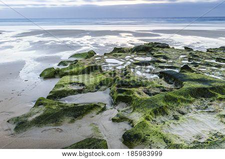 Rocky Coastline With Turquoise Lagoons - El Cotillo, Fuerteventura, Canary Islands, Spain.