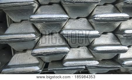 Aluminum Ingots. Transportation Of Aluminum For Export