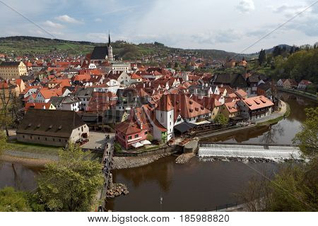 Cesky Krumlov in the Czech, old town on Unesco list