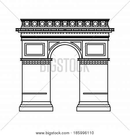 arc de triomphe icon image vector illustration design single black line