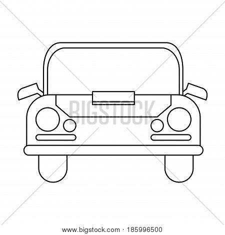 car frontview icon image vector illustration design single black line