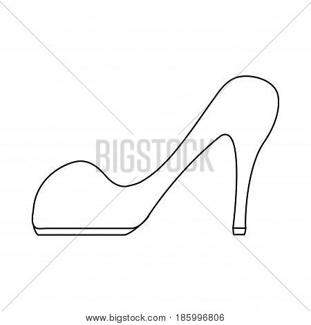stiletto heel icon image vector illustration design single black line