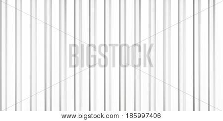Volume realistic embossing texture, iron fence, white 3d geometric pattern, design vector background