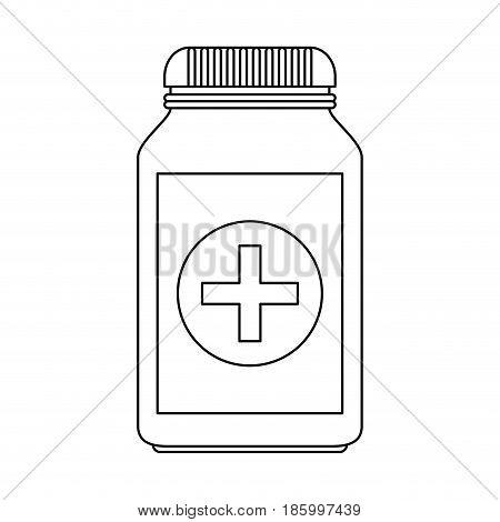 medication pills healthcare icon image vector illustration design single black line