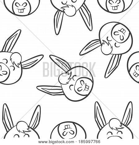 Vector art of animal head doodles collection stock