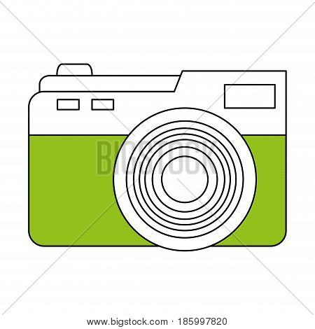 photographic camera icon image vector illustration design partially colored