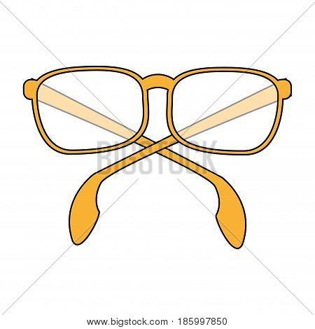 glasses frame icon image vector illustration design  partially colored