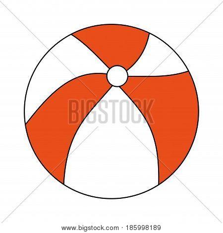 beach ball icon image vector illustration design partially colored