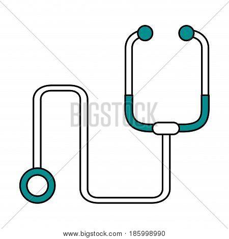 stethoscope healthcare icon image vector illustration design partially colored