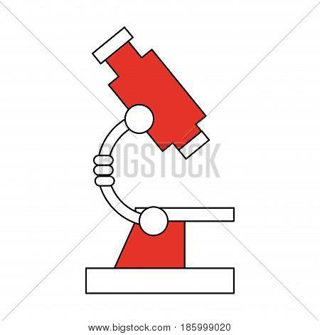 microscope science icon image vector illustration design partially colored
